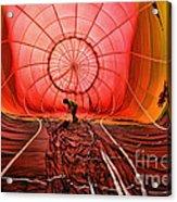 The Balloonist - Inside A Hot Air Balloon Acrylic Print