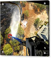 The Bambi Bucket Attached To A Ch-47 Acrylic Print