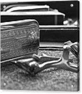 The Barber Shop 1 Bw Acrylic Print