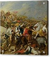 The Battle Between The Amazons And The Greeks Acrylic Print