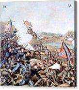 The Battle Of Franklin, November 30 Acrylic Print by Everett