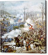 The Battle Of Pea Ridge, Arkansas Acrylic Print by Everett