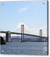 The Bay Bridge And The San Francisco Skyline Viewed From Treasure Island . 7d7778 Acrylic Print by Wingsdomain Art and Photography