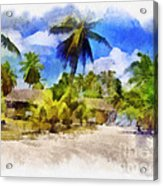 The Beach 01 Acrylic Print