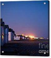 The Beach At Night Acrylic Print
