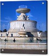 The Belle Isle Scott Fountain Acrylic Print by Gordon Dean II
