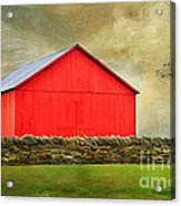 The Big Red Barn Acrylic Print by Darren Fisher