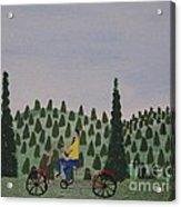 The Bike Rider Acrylic Print
