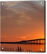 The Biloxi Bay Bridge At Sunset Acrylic Print