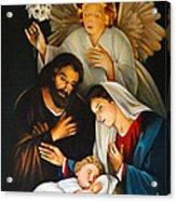 The Birth Of Christ    Feliz Navidad Acrylic Print