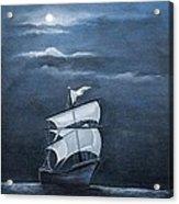 The Black Pearl Acrylic Print