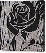 The Black Rose Acrylic Print