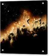 The Blast Wave Of A Nova Pulls Away Acrylic Print