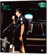 The Blue Line Acrylic Print by Robert Ponzoni