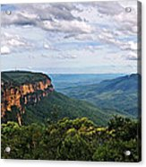 The Blue Mountains - Panoramic View Acrylic Print