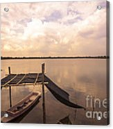 The Blue Sky And A Boat Acrylic Print