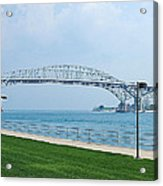 The Blue Water Bridge  Acrylic Print