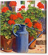 The Blue Watering Can Acrylic Print by Anthony Rule