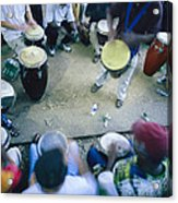 The Blur Of A Frenzied Beat In A Circle Acrylic Print