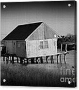 The Boathouse With Texture Acrylic Print