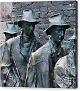 The Breadline Franklin Delano Roosevelt Memorial Acrylic Print