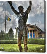 The Bronze Stallion - Rocky Balboa - Philadelphia - Pennsylvania - Rocky Steps Acrylic Print by Lee Dos Santos