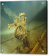 The Bronze Telemotor On The Bridge Acrylic Print by Emory Kristof