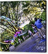 The Bubble Man Of Central Park Acrylic Print