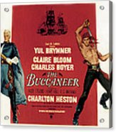 The Buccaneer, Charlton Heston, Yul Acrylic Print