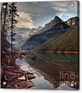The Calm At Lake Louise Acrylic Print