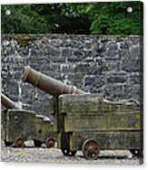 The Cannons Of Bunratty Castle Acrylic Print