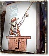 The Cartoon Carney Acrylic Print