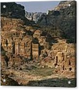 The Caves And Tombs Of Petra, Shown Acrylic Print