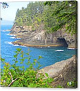 The Caves Of Cape Flattery  Acrylic Print