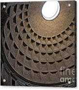 The Ceiling Of The Pantheon Acrylic Print by Chris Hill