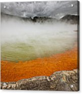 The Champagne Pool In Wai O Tapu Acrylic Print