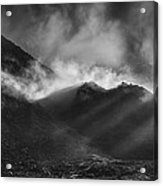 The Chancel In Black And White Acrylic Print by Andy Astbury