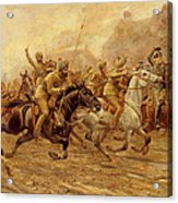 The Charge Of The Bengal Lancers At Neuve Chapelle Acrylic Print