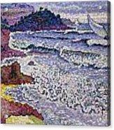 The Choppy Sea Acrylic Print by Henri-Edmond Cross