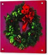 The Christmas Wreath Acrylic Print