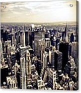 The Chrysler Building and Skyscrapers of New York City Acrylic Print