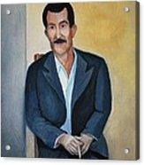 The Cigarette Acrylic Print by Kostas Koutsoukanidis