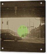 The Circle Green - Urban Perspective Acrylic Print