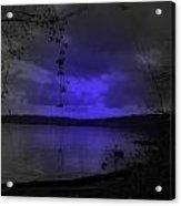 The Circle Violet Lake  Acrylic Print