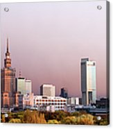 The City Of Warsaw Acrylic Print