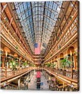 The Cleveland Arcade II Acrylic Print by Clarence Holmes
