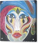 The Clown Within Me Acrylic Print