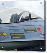 The Cockpit Of An F-16 Fighting Falcon Acrylic Print