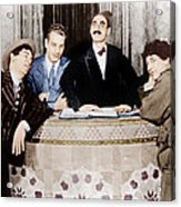 The Cocoanuts, From Left Chico Marx Acrylic Print by Everett