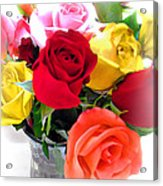 The Color Of A Rose Acrylic Print